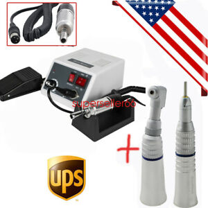 Us Ship Dental Lab Marathon Micro Motor 35k Straight Handpiece Contra Angle