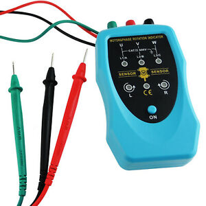 3 Phase Rotation Indicator Motor Direction Meter Tester 120 460vac