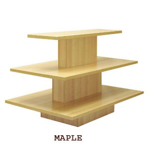 3 Tier Rectangular Maple Display Table Rack Stand New York Pickup Only