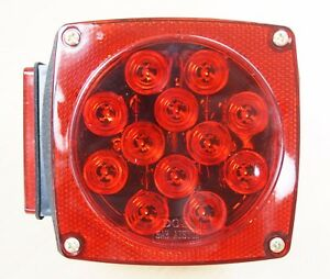 12v Led Submersible Trailer Tail Light Replacement Left Driver Side Dot