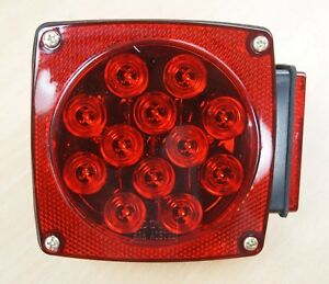 12v Led Submersible Trailer Tail Light Replacement Right Curb Side Dot