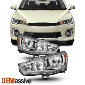Fit 2008 2017 Mitsubishi Lancer 08 2015 Evolution Evo X Halogen Headlights Lamps