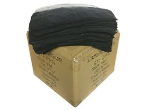 120 Case Microfiber 16 x16 Cleaning detailing Cloths Extra Plush 400gsm Black