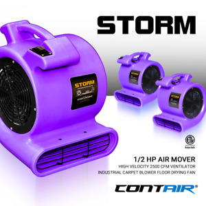 Contair Storm Air Mover Carpet Dryer Blower Floor Fan High Cfm Purple Color Max