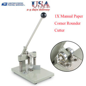 Us Stock Manual Paper Corner Rounder Cutter R6 r10 Craft Trimmer Fillet Cutting