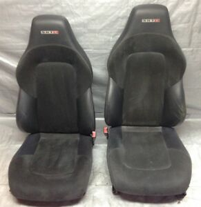 2005 2007 Chrysler Crossfire Srt 6 Black Leather Alcantara Bucket Seats Cf010