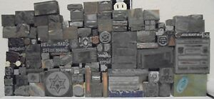 Lot Of 112 Vintage Cuts Printing Block Letterpress Blocks