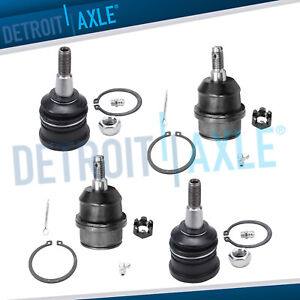 New 4pc Front Upper Lower Ball Joints For Jeep Commander Grand Cherokee