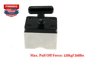 Magnetic Work Holding Square 120kgf 260lb Hold Force With On off Switch