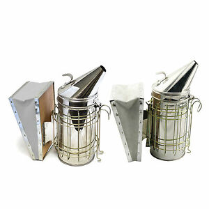 Heat Shield Beekeeping Equipment Bee Hive Smoker Stainless Steel Set Of 2