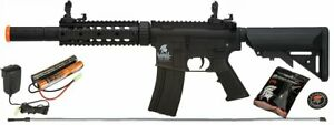 Lancer Tactical M4 GEN 2 SD Airsoft Gun Rifle AEG Metal Gears Raider 9.6v Black $169.00