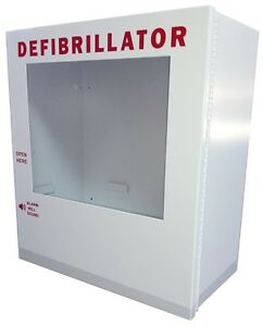 Surface Mount Basic Aed Wall Cabinet 15 X 12 X 7 Metal Easy Open Free Shipping