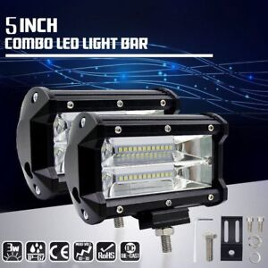 72w Spotlight Led Off Road Work Light Lamp 12v 24v Car Boat Truck Driving 7000k