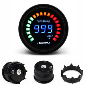 Universal 2 52mm Led Digital Tachometer Gauge 10000 Rpm Smoke Lens Tacho Meter