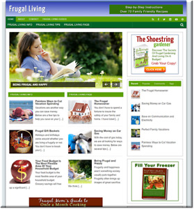 Frugal Living Turnkey Website Business Earn From Affiliate Adsense