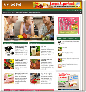 Raw Food Diet Turnkey Website Business Earn From Affiliate Adsense