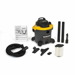 Wet Dry Shop Vac Vacuum 12 gallon Peak Cleaner Portable Filter With Accessories