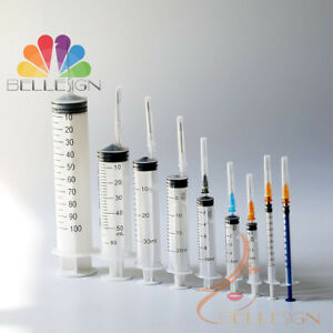 Syringes Medical Sterile Hypodermic Quality Injections 1ml 3ml 5 10ml All Sizes