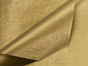 Metallic Gold Tissue Paper 20 Inch X 30 Inch 48 Sheets