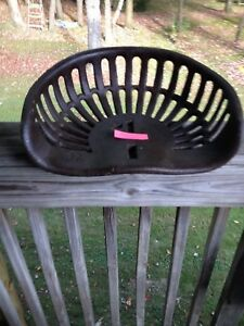 Rare Sloted Cast Iron Implement Seat Farm Tractor Seat 36 Real Nice