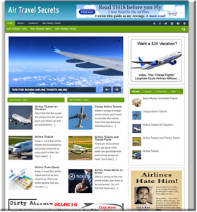 Air Travel Affiliate Turnkey Website Business Earn From Affiliate Adsense
