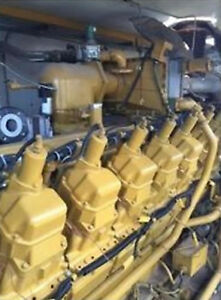 Used 750kw Caterpillar 480v 60hz Natural Gas Generator S n 3rc00605