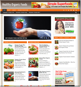Organic Foods Turnkey Website Business Earn From Affiliate Adsense