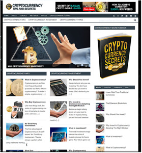 Cryptocurrency Btcoin Turnkey Website Business Earn From Affiliate Adsense