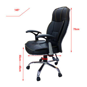 High Back Executive Office Chair Pu Leather Ergonomic Computer Desk Chairs Us