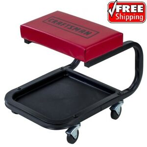 Craftsman Creeper Seat Wheels Tool Tray Mechanic Rolling Garage Shop Car Auto