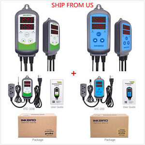 Us Plug 110v Digital Temperature Controller Humidity Control Itc 308 ihc 200