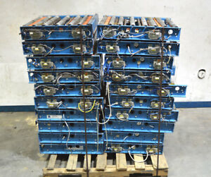 20 Ermanco Intellirol Power Roller Transfer Conveyor Section 24 w 42 5 l Stops