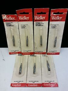 Weller Soldering Replacement Tip Lot Of 7