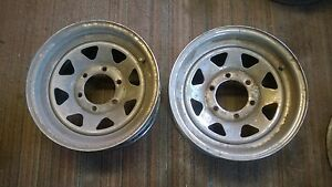 6 Six Chrome Wagon Wheel Style Wheels 15x6 6 Lug Chevy Truck Or Trailer Rims