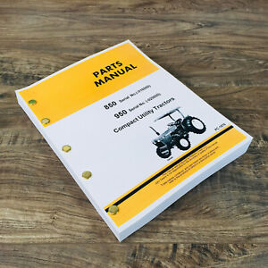 Parts Manual For John Deere 850 950 Tractors Catalog Assembly Exploded Views