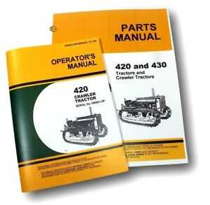 Operators Parts Manuals For John Deere 420 420c Crawler Tractor Dozer Catalog