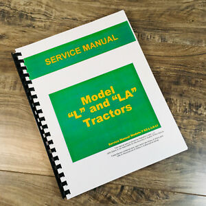 Service Manual For John Deere L La Tractor Repair Technical Shop Book Li Lu Jd