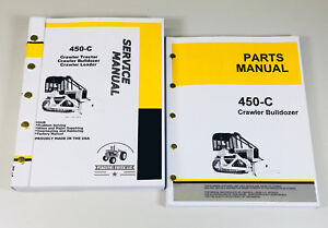 Service Manual Set For John Deere 450c Crawler Bulldozer Parts Catalog Repair