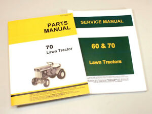 Service Manual Set For John Deere 70 Lawn Garden Tractor Parts Catalog Shop Book