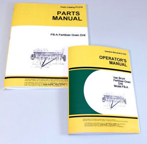 Operators Parts Manuals For John Deere Van Brunt Fb a Fb97a Grain Drill Catalog