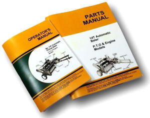 Operators Parts Manual Set For John Deere 14t Baler Owners Knotter Catalog Jd
