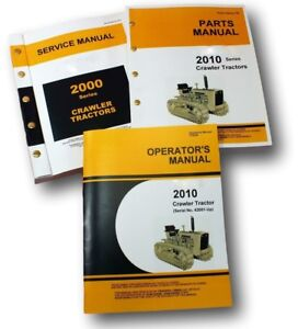 Service Manual Set For John Deere 2010 Crawler Tractor Parts Operators Repair