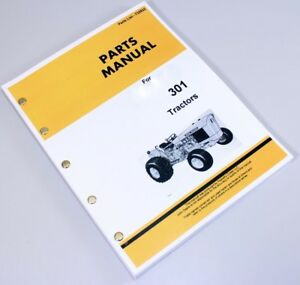 Parts Manual For John Deere 301 Jd301 Tractor Catalog Exploded Views Numbers