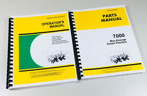 Operators Parts Manual John Deere 7000 Drawn Max emerge Planter Parts Catalog