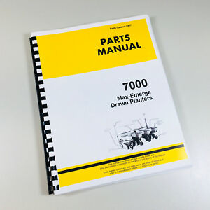 Parts Manual For John Deere 7000 Max emerge Drawn Planters Catalog Assembly