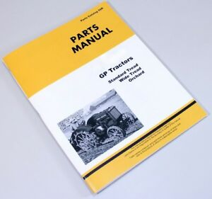 Parts Manual For John Deere Gp Tractors Catalog Assembly Exploded Views Numbers