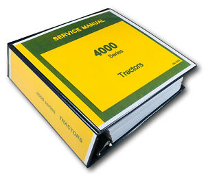 Service Manual For John Deere 4020 4010 4000 Tractor Technical Repair Shop Ovhl