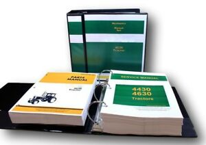 Service Manual Set For John Deere 4630 Tractor Repair Parts Catalog Shop 1645pg