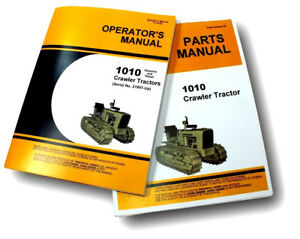 Operators Parts Manuals For John Deere 1010 Crawler Tractor Dozer Bulldozer