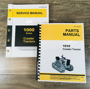 Service Manual Set For John Deere 1010 Crawler Tractor Parts Catalog Shop Books